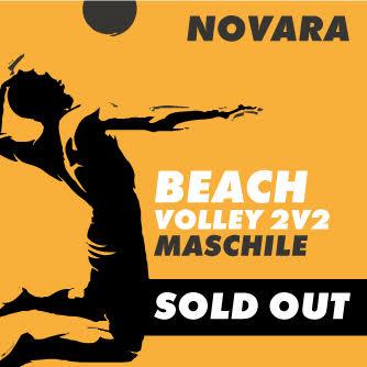 grafica per beach volley maschile novara sold out